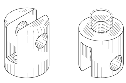 Design Patent Drawing – Tool Part