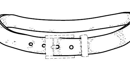 Design Patent Drawing – Belt
